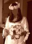 Robe de mariée pas cher en satin avec chaussures 2012 - Occasion du mariage