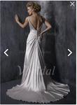 Robe de mariée avec Plissé Perles brodées  - Occasion du Mariage