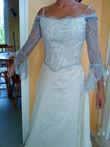 Robe de mariée en soie sauvage et dentelle de Calais d'occasion