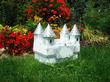 Urne tirelire château argent et blanc - Occasion du Mariage