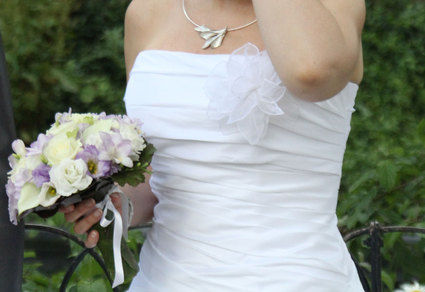 Robe de mariée Batimore LME blanche en taffetas