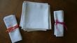 Nappes + serviettes coton blanc - Occasion du Mariage