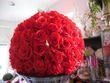 Location Boules de roses ROUGE XL LUXE 40 cm  - Occasion du Mariage