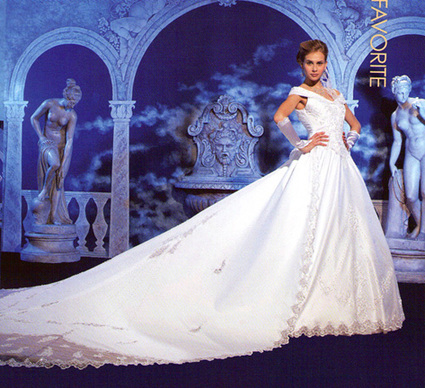 Robe mariée Demetrios d'occasion avec traîne