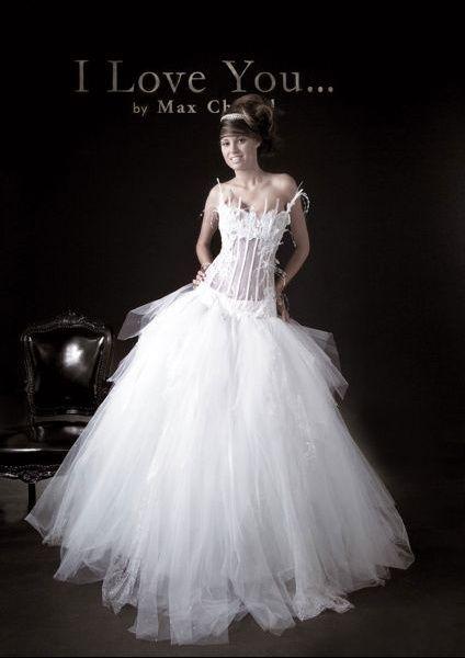 Robe de mariage Max Chaoul modèle Néfertiti avec voile