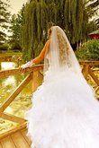 Robe de mariée Hervé Mariage, bustier à lacets et jupon pas cher - Occasion du Mariage