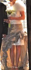 Robe de mariée courte bustier linéa raffaelli d'occasion + jupe longue