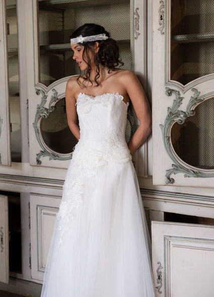 Robe de mariée Elsa Gary modèle Flocon - Calvados