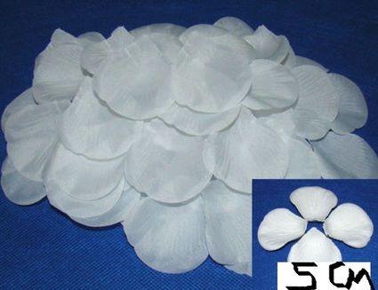 Pétales blanches décoration table mariage pas cher d'occasion 2012 - Picardie - Aisne - Occasion du Mariage