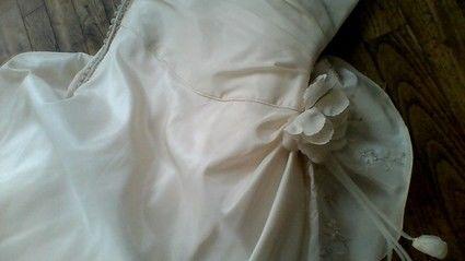 Robe de mariée d'occasion avec jupon, collier et chaussures