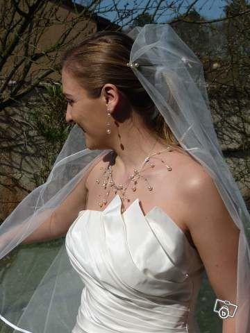 Robe de mariée pas cher Emy Lee + jupon + voile + bijoux 2012  - Occasion du mariage