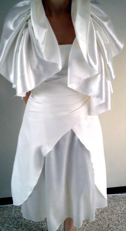 Robe de cocktail avec étole pour mariage pas cher