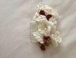 Barrette ivoire fleurs bordeaux - Occasion du Mariage