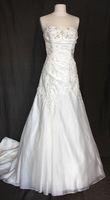 robe bustier neuve T36 taffetas brodé perle - Occasion du Mariage