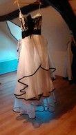 robe de mariée blanche et noire - Occasion du Mariage