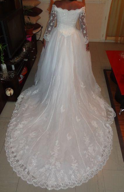 Robe de mariée chic Tomy mariage avec traîne pas cher - Occasion du Mariage