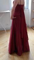robe satin pourpre - Occasion du Mariage