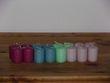 Lot de16 bougies multicolores - Occasion du Mariage