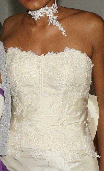 Robe de mariée d'occasion Cymbeline bustier en dentelle pas cher 2012 - Occasion du Mariage