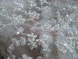 Boléro de mariage en dentelles et petites perles d'occasion T42
