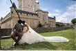 Magnifique robe de mariée Pronovias avec voile et jupon