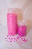 Sable + petites pierres + paillettes rondes roses - Yvelines