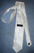 Cravate de marié Blanche Satin marque Virtuose  - Occasion du Mariage