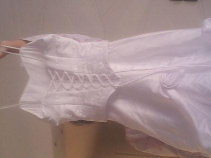 Robe de mariée blanche avec étole d'occasion