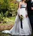 Robe élégante, détails bleus t40 - Occasion du Mariage