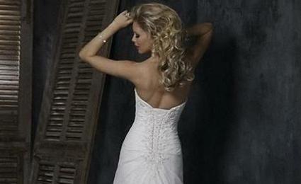 Robe de mariée bustier féminine en mousseline