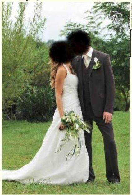 Costume de mariage pas cher chocolat 3 pièces, taille 38, Pronuptia - Occasion du Mariage