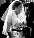 Voile court de mariée, ivoire avec petits strass - Occasion du Mariage