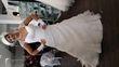 robe de mariee avec jupon et chapeau - Occasion du Mariage