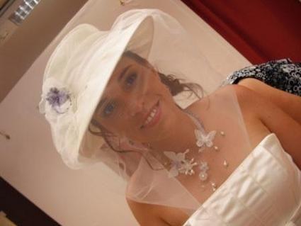 Chapeau de mariée pas cher Pronuptia 2012 - Occasion du mariage