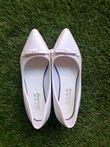Chaussures de mariée blanche nœud papillon - Occasion du Mariage