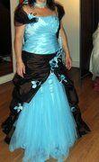 robe de mariée turquoise et chocolat - Occasion du Mariage