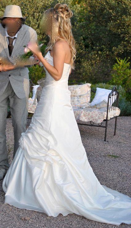 Robe Mariée pas cher Bengaline Ivoire - Occasion du mariage