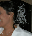 Peigne à cheveux pour mariage avec plumes - Occasion du Mariage