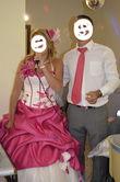 Robe de mariée bicolore modèle unique fushia/ivoire - Occasion du Mariage