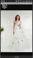 robe de mariee annie couture grise bicolore - Occasion du Mariage