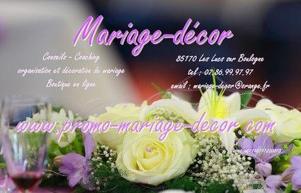 Votre décoration de mariage à prix bas - Occasion du Mariage