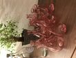 Vases roses pour décoration de table mariage - Essonne