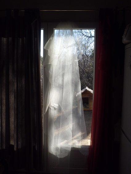 Voile de mariée long Point mariage pas cher 2012 - Occasion du Mariage