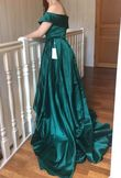 Robe en Satin vert Emeraude - Occasion du Mariage