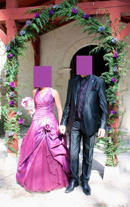 Robe de mariée couleur aubergine pas cher d'occasion 2012 - Aquitaine - Lot et Garonne - Occasion du Mariage