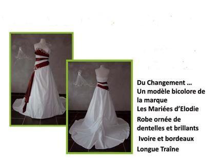 Robe mariée bustier rouge et blanc pas cher - Occasion du Mariage