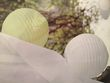 Lot de 6 boules japonaises de papier blanc diam 25 cm  - Occasion du Mariage