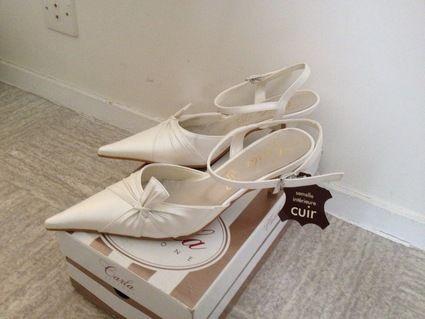 Chaussures de mariée Carla Selvonne neuve