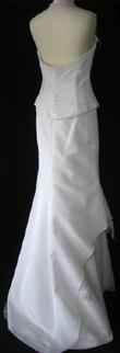 Robe de mariée pas cher d'occasion en doupion - Occasion du Mariage