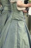 Robe de mariée/cocktail pas cher couleur Vert Bronze MISS PARIS - Occasion du Mariage